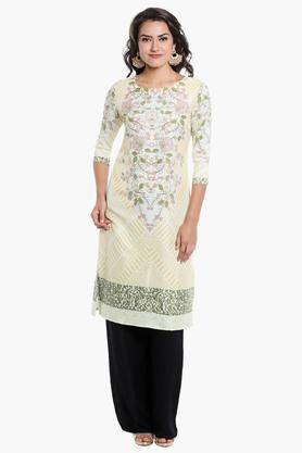 KASHISH Womens Round Neck Printed Kurta - 202124324