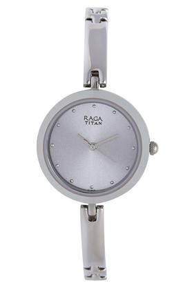 Womens Raga Silver Dial Metallic Analogue Watch - 2606SM04