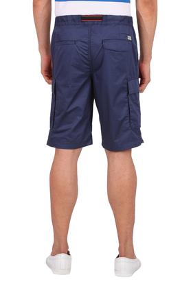 Mens 6 Pocket Solid Cargo Shorts