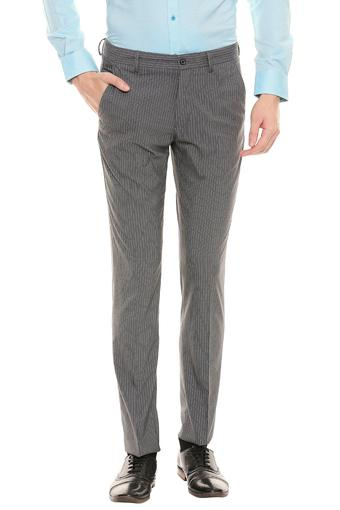 LOUIS PHILIPPE -  Light Grey Formal Trousers - Main