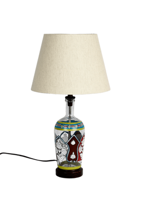 Indi Glass Painted Lamp
