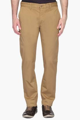 Mens Slim Fit 4 Pocket Solid Chinos (Steven Tapered Fit) - 202009679