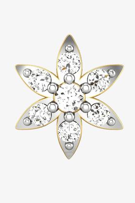 VELVETCASEWomens 18 Karat Yellow Gold Nose Ring (Free Diamond Pendant) - 201065036