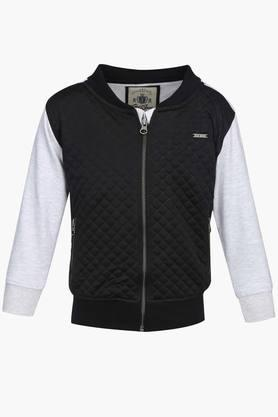 Boys Mandarin Neck Colour Block Quilted Jacket