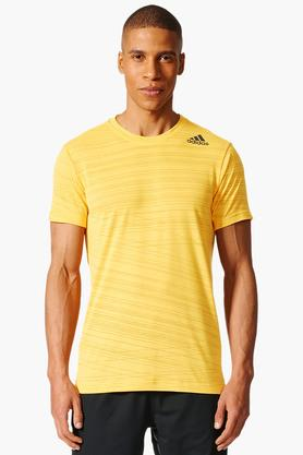 ADIDAS Mens Round Neck Stripe T-Shirt - 202705969