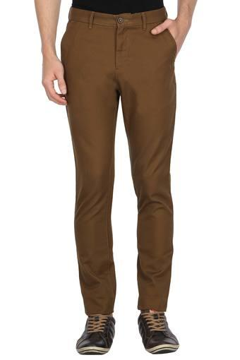 VAN HEUSEN SPORT -  Yellow Casual Trousers - Main