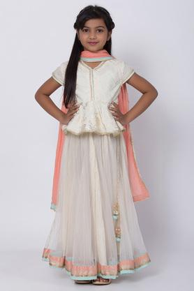BIBA GIRLS - Off White Indianwear - Main