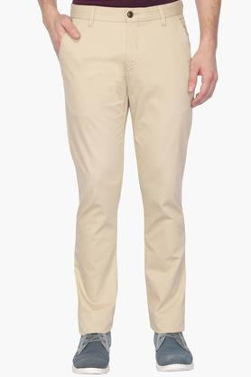ARROW SPORT Mens 4 Pocket Solid Trouser (Chrysler Fit )