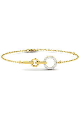 SPARKLES His & Her Collection Women 925 Sterling Silver Gold Plated Diamond Bracelet