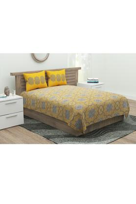 Printed Double Flat Bed Sheet with 2 Pillow Cover