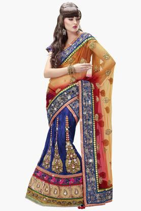 MAHOTSAV Womens Embroidered Semi-stitched Lehenga Choli - 201643921