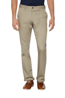 BLACKBERRYS Mens Slim Fit Solid Formal Trousers - 9940920