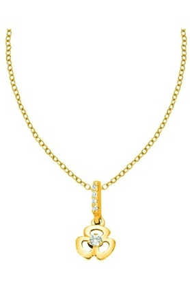 SPARKLESHis & Her Collection 18 Kt Pendant In Gold & Real Diamond HHPXP8801