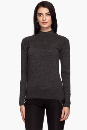 VAN HEUSEN Womens Round Neck Slub Sweater