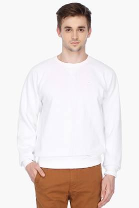 LOUIS PHILIPPE SPORTSMens Round Neck Solid Sweatshirt