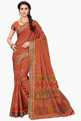 ASHIKA Womens Designer Cotton Printed Saree - 202338214