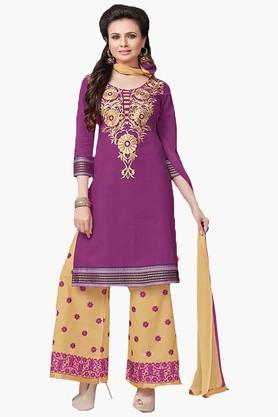 ISHIN Womens Embroidered Unstitched Dress Material - 201832730