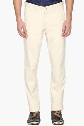 ALLEN SOLLY Mens Slim Fit 4 Pocket Solid Chinos - 202104396