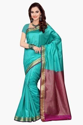 ISHINWomens Poly Silk Woven Saree - 201628882