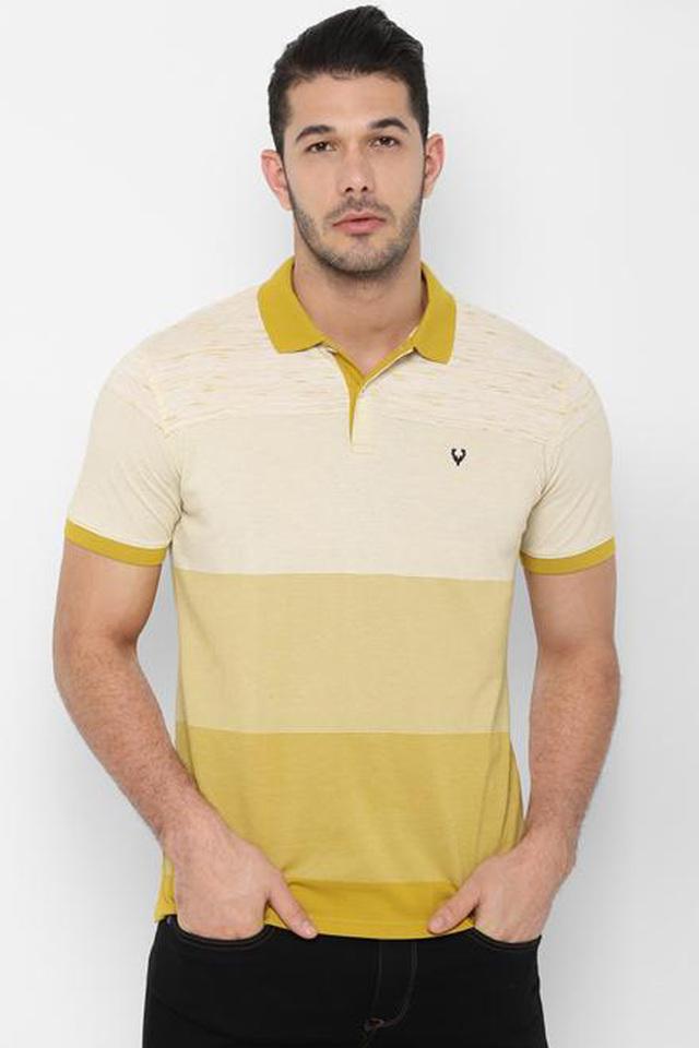 ALLEN SOLLY - MustardT-Shirts & Polos - Main