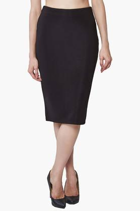 AND Womens Solid Pencil Skirt