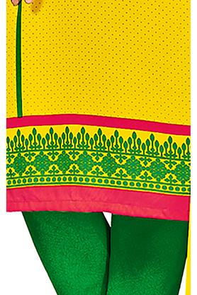 Womens Printed Unstitched Churidar Suit Dress Material with Dupatta
