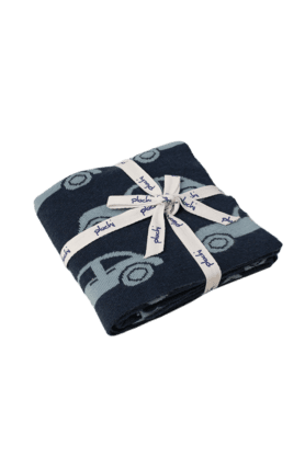 Zooming Car Knitted Kids Blanket