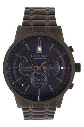 Mens Blue Dial Metallic Chronograph Watch - TH1791633