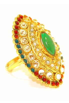ZAVERI PEARLSClassical Traditional Indian Finger Ring By - ZPFK1894