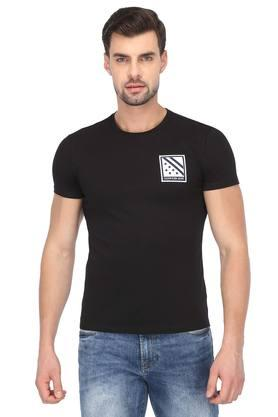 a904cb360 X CALVIN KLEIN JEANS Mens Round Neck Solid T-Shirt