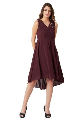 MISS CHASE -  Maroon Dresses - Main