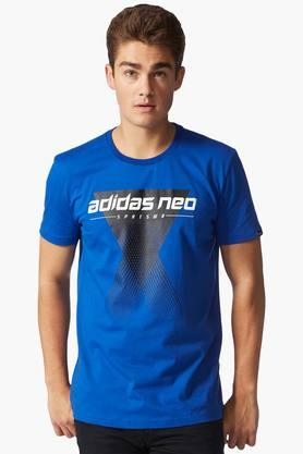 ADIDAS Mens Round Neck Printed T-Shirt - 201574479