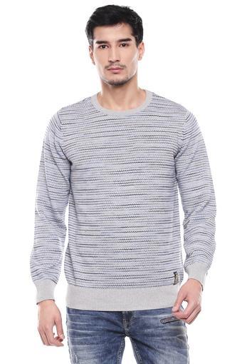 ALLEN SOLLY -  Light GreySweaters - Main