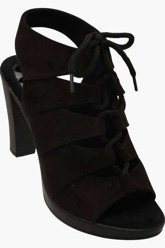 Womens Party Wear Lace Up Heel Sandals