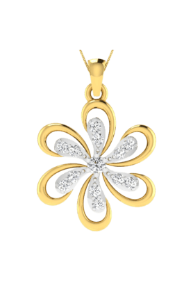 SPARKLES His & Her Collection 18 Kt Pendant In Gold & Real Diamond HHP10430