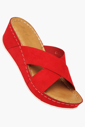 TRESMODE Womens Daily Wear Slipon Wedge Sandal