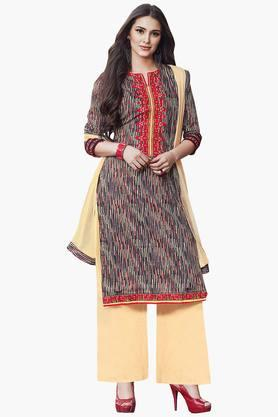 DEMARCA Women Pure Cotton Designer Dress Material