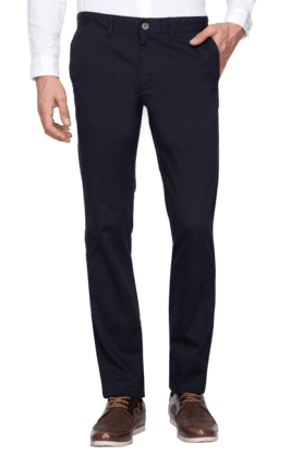 INDIAN TERRAIN Mens Slim Fit Solid Chinos - 200699366