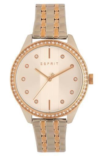 Womens White Dial Metallic Analogue Watch - ES906582017