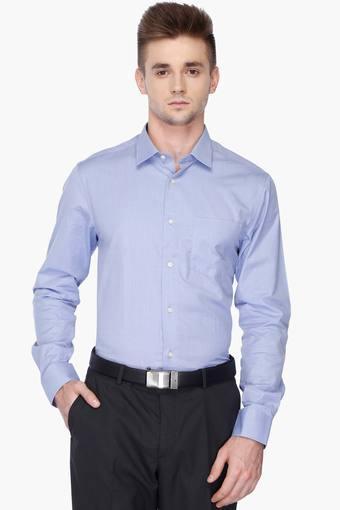 Mens Full Sleeves Slim Fit Formal Solid Shirt