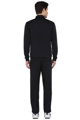 Mens Zip Through Neck Solid Sports Track Suits