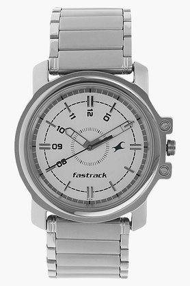 FASTRACK Mens Silver Dial Stainless Steel Strap Watch - 201038236