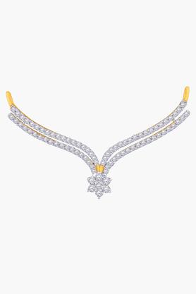 MALABAR GOLD AND DIAMONDSWomens 18 KT Gold And Diamond Tanmaniya - 201203714