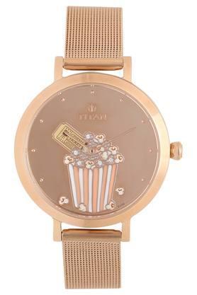 Womens Brown Dial Metallic Analogue Watch - 95104WM03