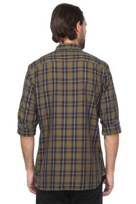 Mens Slim Collar Check Classic Shirt