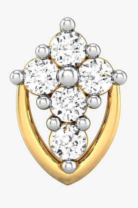 VELVETCASEWomens 18 Karat Yellow Gold Nose Ring (Free Diamond Pendant) - 201065066