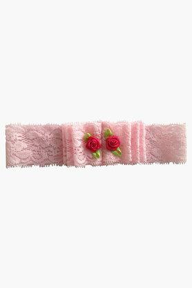 Girls Corsage Solid Lace Headband (0 - 3 Years)