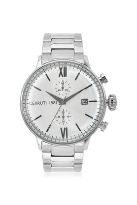 Mens White Dial Stainless Steel Chronograph Watch - CRA178SN04MS