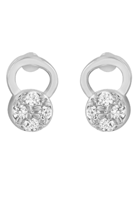 MAHI Mahi Rhodium Plated Frolicsome Earrings With CZ Stones For Women ER1191945R