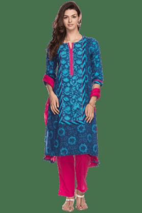 STOPWomens Floral Print Patiala Suit